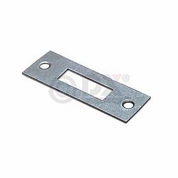RVS sluitplaat rechthoekig voor slot 1256/1258<br />Per stuk
