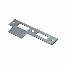RVS sluitplaat rechthoekig voor slot 1264/1266/1269<br />Per stuk