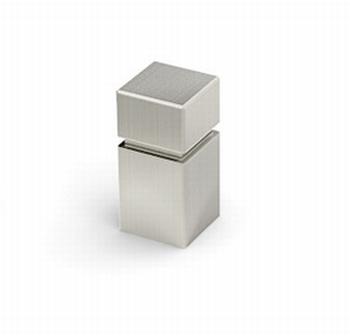 Knop Arum - edelstaal geborsteld - Breedte 12 mm<br />Per stuk