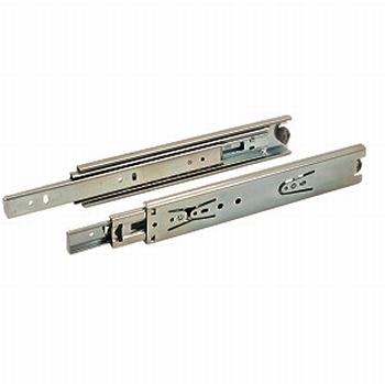Zijwandmontage kogelgeleiders 45mm - 60cm - 40kg<br />Per paar