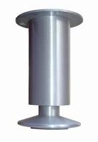 Aluminium meubelpoot 40mm - hoogte 130mm<br />per stuk