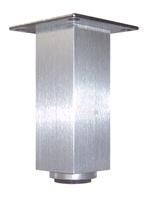 Aluminium meubelpoot 40x40mm - hoogte 60mm<br />per stuk