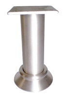 Aluminium meubelpoot diameter 30mm - hoogte 130mm<br />per stuk