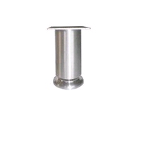 Aluminium meubelpoot diameter 50mm - hoogte 130mm<br />per stuk