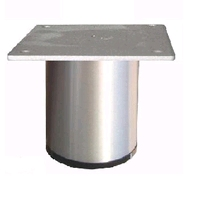 Aluminium meubelpoot diameter 60mm - hoogte 130mm<br />per stuk