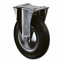Bokwiel 100kg - loopvlak rubber zwart