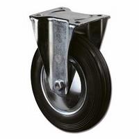 Bokwiel 205kg - loopvlak rubber zwart