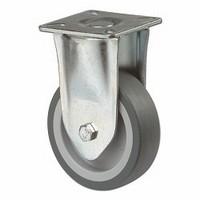 Bokwiel 65kg - kunststof loopvlak rubber<br />per stuk