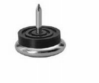 Glijnagel met RVS glijvlak - hoogte 10mm - diameter 23mm<br />per stuk