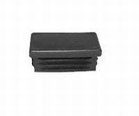 Insteekdop rechthoekig - zwart 40x15mm<br />per stuk