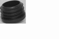 Insteekdop rond voor buis 25mm - zwart<br />per stuk