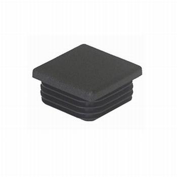Insteekdop vierkant 20x20mm - zwart<br />per stuk