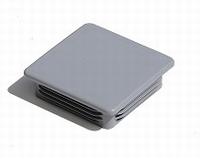 Insteekdop vierkant 60x60mm - grijs RAL 7040<br />per stuk