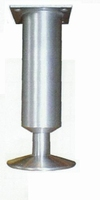 Meubelpoot aluminium 35mm - lengte 120mm<br />per stuk