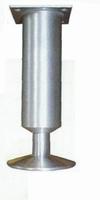 Meubelpoot aluminium 35mm - lengte 130mm<br />per stuk
