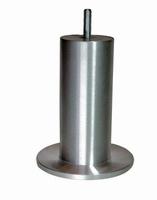 Meubelpoot aluminium 50mm - lengte 130mm<br />per stuk