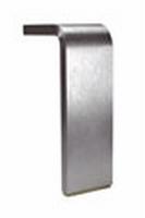 Meubelpoot aluminium 50x10mm - lengte 130mm<br />per stuk