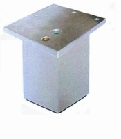 Meubelpoot aluminium 60x60mm - lengte 60mm<br />per stuk