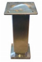 Meubelpoot RVS 35x35mm - lengte 130mm<br />per stuk