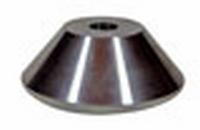 Meubelvoet aluminium 49mm - lengte 17mm<br />per stuk