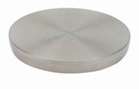 RVS lijmrozet 60mm tbv tafelpoten voor glasverlijming<br />per stuk