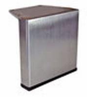 RVS meubelpoot 100x20mm - hoogte 80mm<br />per stuk