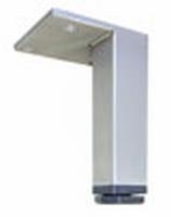 RVS meubelpoot 25x25mm - lengte 130mm<br />per stuk