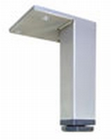 RVS meubelpoot 25x25mm - lengte 200mm<br />per stuk