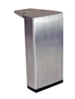 RVS meubelpoot 50x20mm - hoogte 100mm<br />per stuk