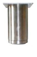 RVS meubelpoot diameter 60mm - hoogte 160mm<br />per stuk