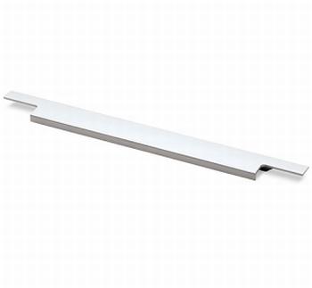 Greep Lamezia - aluminium geeloxeerd - Lengte 395 mm<br />Per stuk