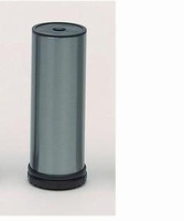 Stelpoot staal rvs finish - diameter 50mm - hoogte 100mm<br />per stuk