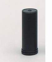 Stelpoot staal zwart - diameter 50mm - hoogte 100mm<br />per stuk