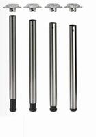 Tafelpoot 60mm - lengte 710mm - zwart<br />per set (4)