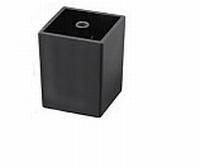 Tafelverhoger vierkant 50x50mm - hoogte 62mm - zwart<br />per stuk