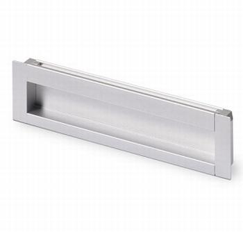 Greep Nidum - aluminiumkleurig - Lengte 143 mm<br />Per stuk