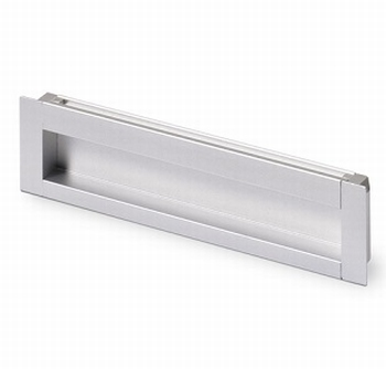 Greep Nidum - aluminiumkleurig - Lengte 79 mm<br />Per stuk