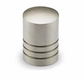 Knop Agrinum - geborsteld edelstaal - Hoogte 26 mm<br />Per stuk