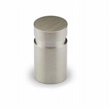 Knop Monacum - geborsteld edelstaal - Hoogte 25 mm<br />Per stuk