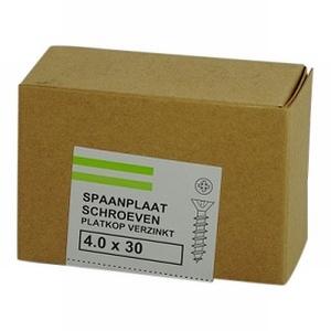 Spaanplaat/houtschroef 4,0x30mm  - doos 200 stuks<br />per doos
