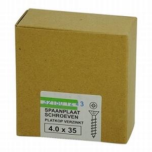 Spaanplaat/houtschroef 4,0x35mm  - doos 200 stuks<br />per doos