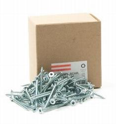 Spaanplaat/houtschroef PK 5,0 x 80/50mm - doos 200 stuks<br />per doos