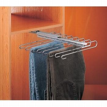 Uittrekbare broekenhouder 45cm - 10 broeken<br />Per stuk