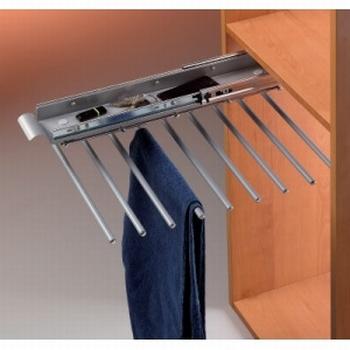 Uittrekbare broekenhouder 49cm - 9 broeken - softclosing<br />Per stuk