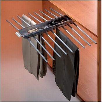 Uittrekbare broekenhouder 49cm - 18 broeken - softclosing<br />Per stuk