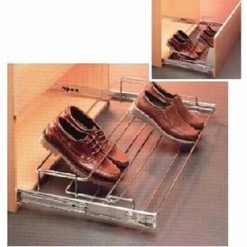 Uittrekbaar schoenenrek 63-82cm - kogelgeleider<br />Per stuk