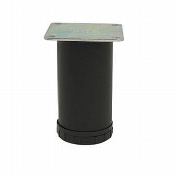 Tafelpoot Ø 60mm - mat zwart - hoogte 710mm<br />Per stuk