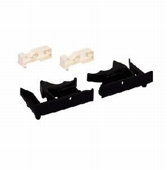 Set koppelingen voor legplanken of lades met vlakke bodem<br />Per set