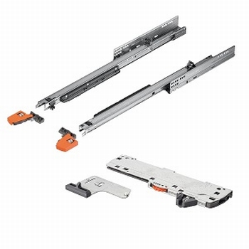 Blum Movento incl. softclosing en push to open 450mm - 60kg<br />Per paar