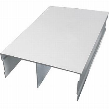 Bovenrail aluminium mat zilver - 510cm<br />Per stuk